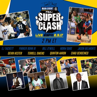 "PBA Kicks Off ""Big February"" on ESPN with Live Main Event Terrell Owens PBA Super Clash on February 5"