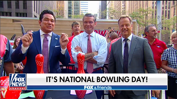 Go Bowling celebrates National Bowling Day on the Square with the hosts of FOX & Friends!