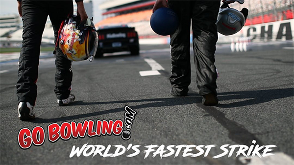 Watch Pro Bowler Jason Belmonte and NASCAR Driver Aric Almirola Hit the World's Fastest Strike!
